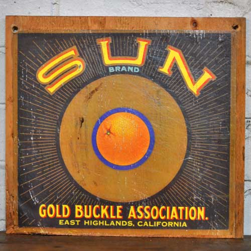 Fruit Crate Signs - Sun Brand