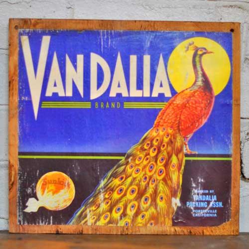 Fruit Crate Signs - VanDalia Peacock