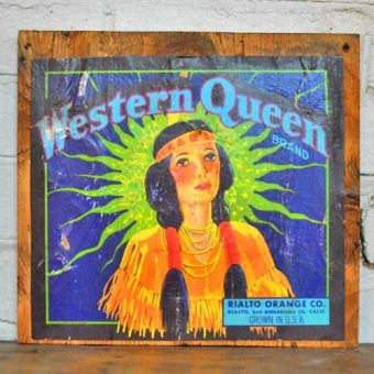 Fruit Crate Signs - Western Queen