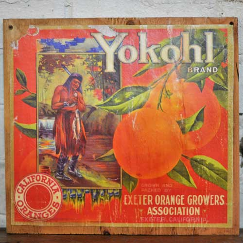 Fruit Crate Signs - Yokohl Indian