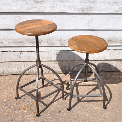 products style industrial urban angle grande stool bar