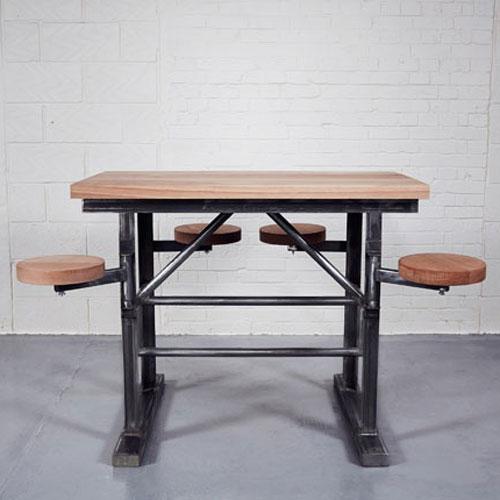 Homebarn industrial tall ship 39 s bar table home barn vintage for Table bar escamotable