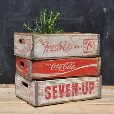 Vintage Wooden Drinks Crate Pepsi Home Barn Vintage