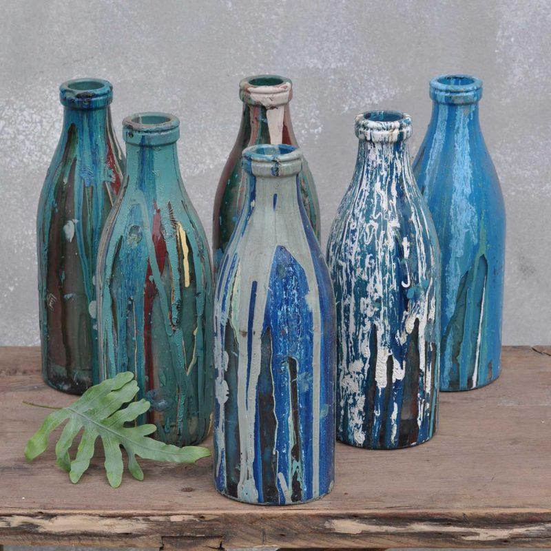 Screen Printers Art Studio Glass Bottle