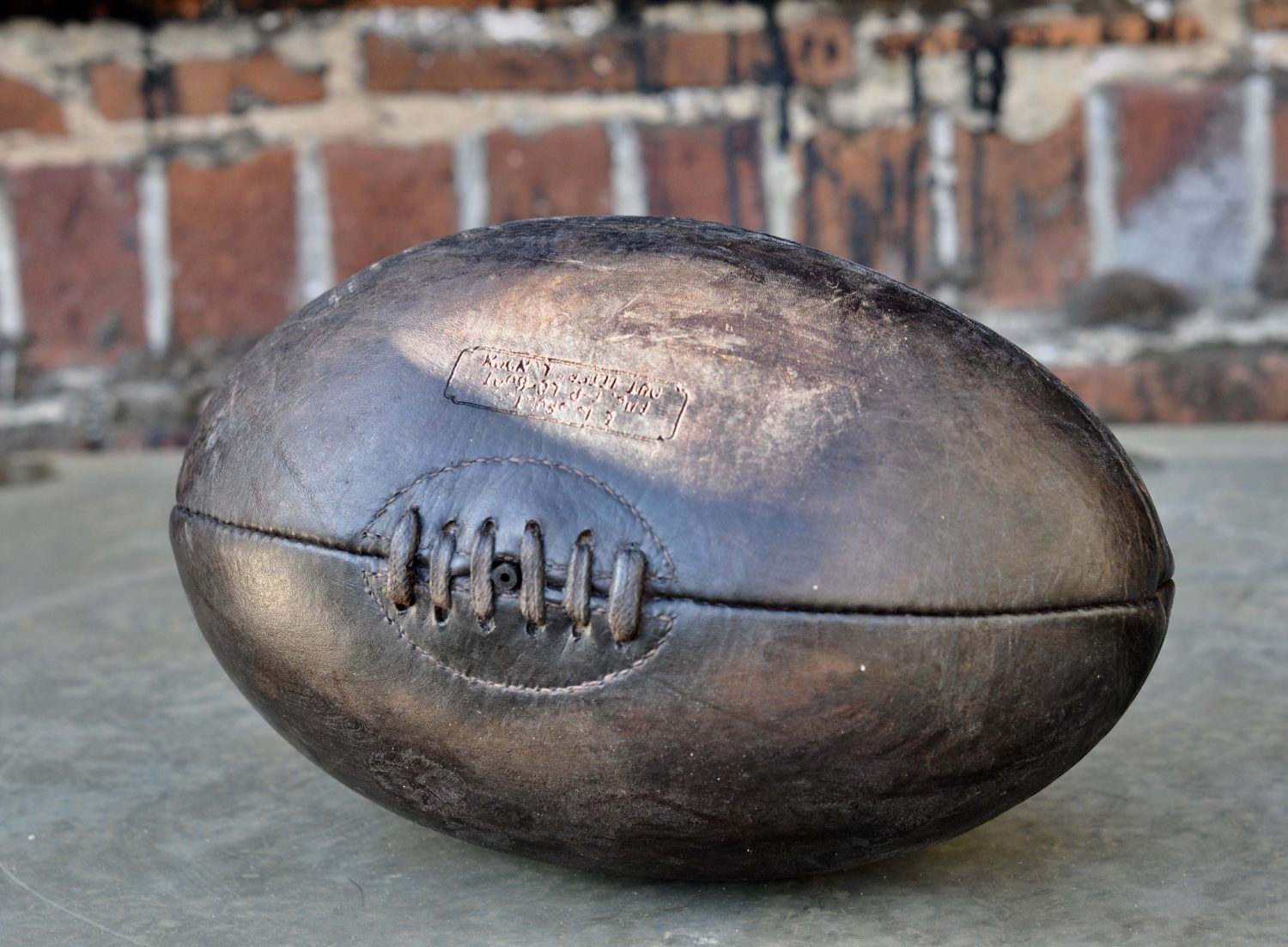 Authentic Vintage Style Tan Coloured Leather Rugby Ball
