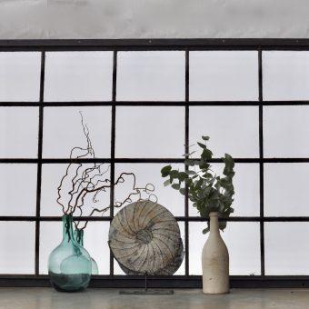 Industrial Vintage Cast Iron Warehouse Window Mirror Twenty Panes