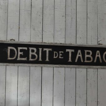Antique French Timber Original Hand Painted Tabac Shop Sign