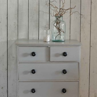 Antique Hand Painted Victorian Chest Of Drawers