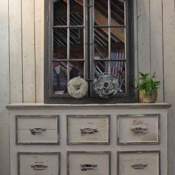 Antique Painted Large Six Drawer Haberdashery Cabinet