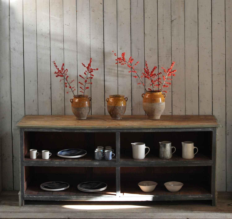 Open Shelving Unit Kitchen: Antique Shop Counter Kitchen Island Open Shelving Unit