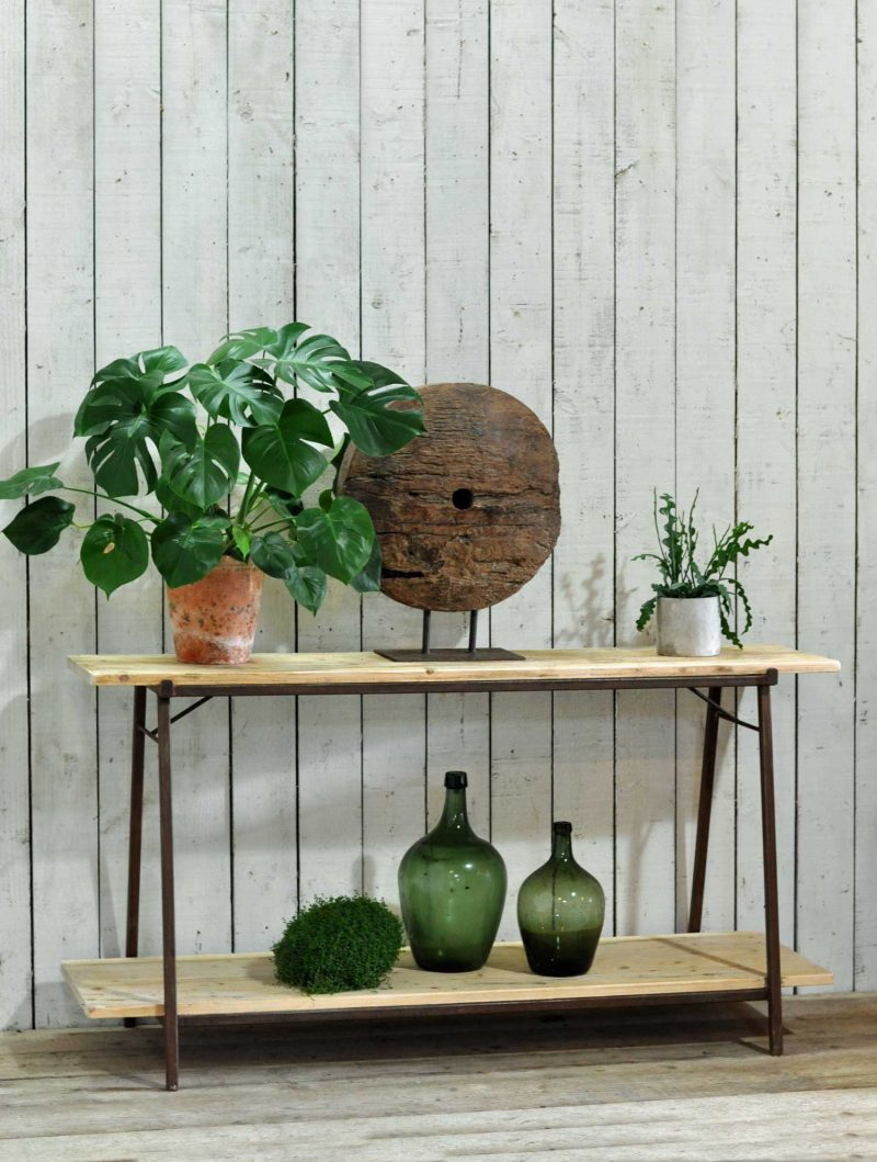 Console Table Hand Crafted From Reclaimed Timber and Iron