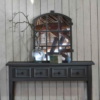 Long Vintage Console Table With Four Drawers