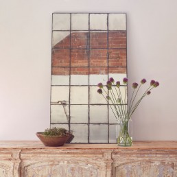 Antiqued Glass Verre Eglomise Mirror