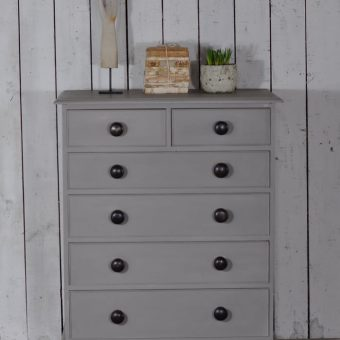 vintage hand painted chest of six drawers
