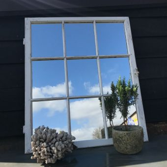Vintage Timber Architectural Window Mirror Nine Panes