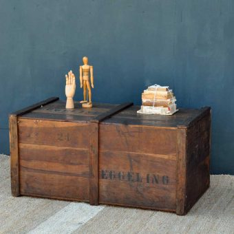 Military Blanket Box Trunk Campaign Chest Antique Rustic Pine