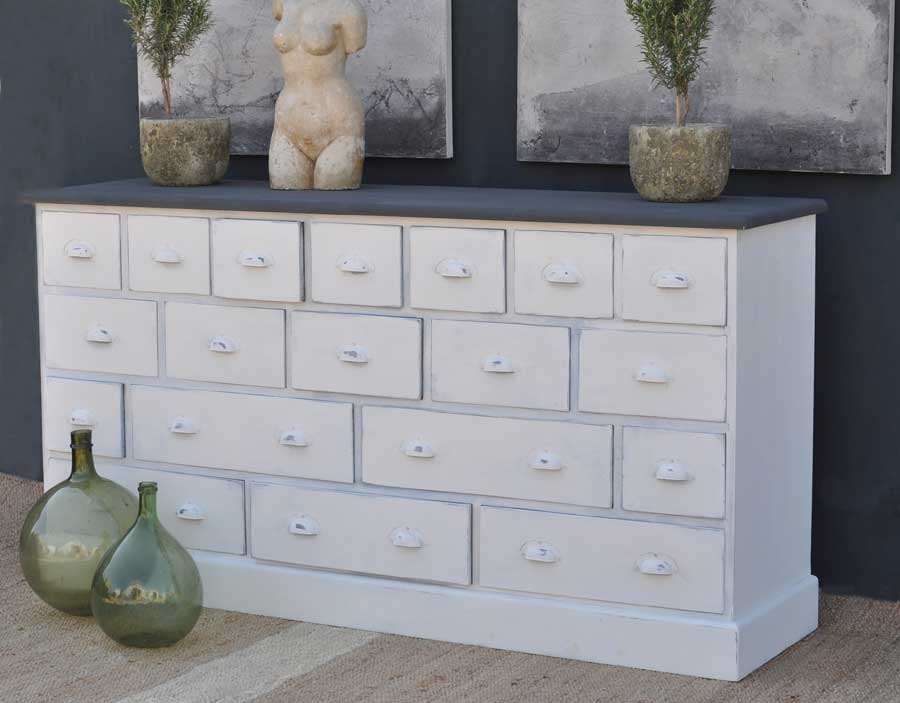 Multiple Drawer Storage Unit Hand Painted. Multiple ... & Multiple Drawer Storage Unit Hand Painted