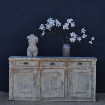 Vintage French Distressed Paintwork side board kitchen counter island