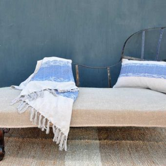 Deconstructed Antique Upholstered Chaise Lounge