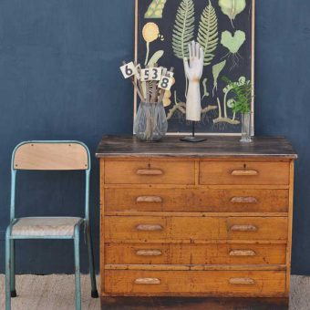Vintage University Studio Chest Of Oak Drawers