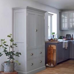 Hand Made Bespoke Shaker Kitchen Larder Cupboard Painted