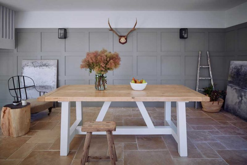 Rustic North American Timber Mill Dining Table