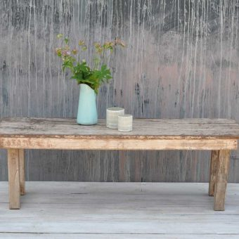 Rustic Vintage Folding Coffee Table With White Paintwork