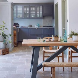 Solid Rustic Oak Farmhouse Kitchen Dining Table