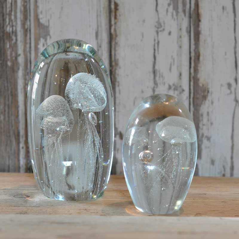 Decorative Glass Jellyfish Captured In Glass Dome