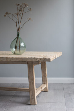 RECLAIMED ELM TRESTLE DINING TABLE | 225CM X 100CM