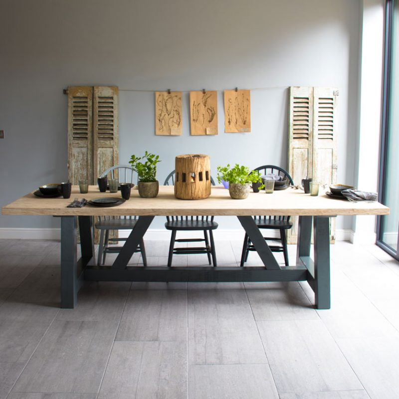 Reclaimed Rustic Elm Dining Table