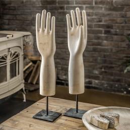 Vintage Glove Mould Ceramic Hand Form On Stand
