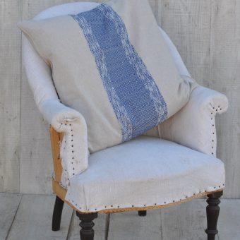 Blue Striped Cotton Cushion