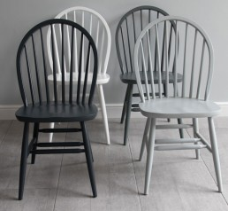 Painted dining chair | Windsor hooped back design