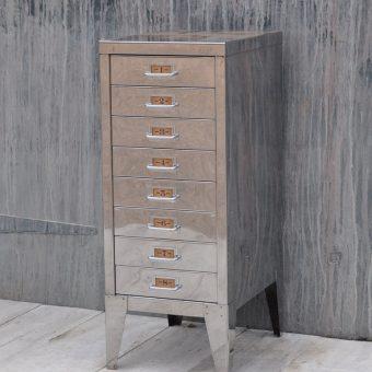 Vintage Industrial Steel Filing Cabinet 8 Drawer