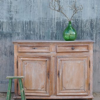 Antique French oak lime washed cupboard