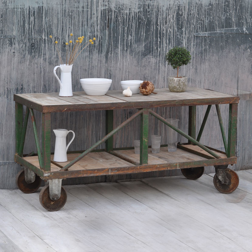 Industrial Vintage Kitchen Island Wheeled Trolley