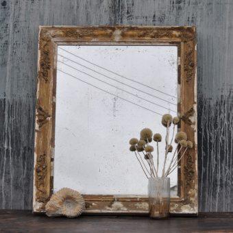 ornate original antique french mirror