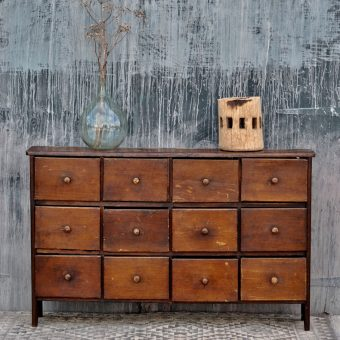 primitive industrial vintage workshop drawers