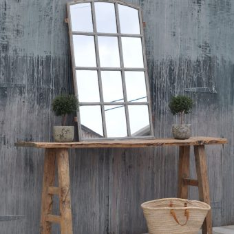 rustic antique wooden elm console table