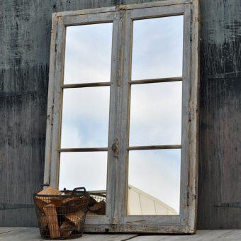 antique french full length door mirror