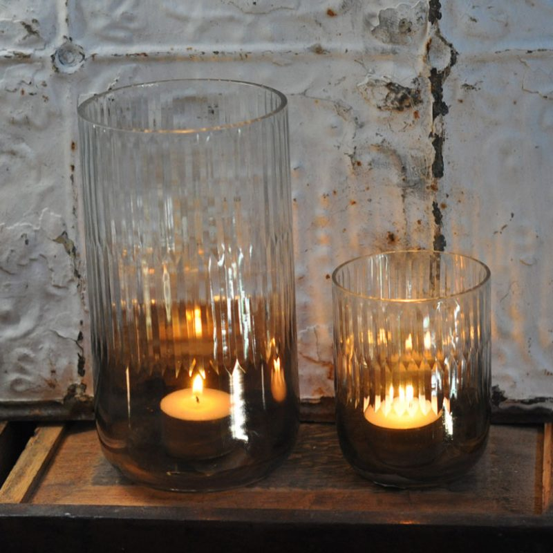etched glass | gold votive tealight
