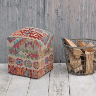 traditional woven kilim footstool