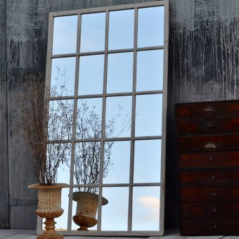 vintage industrial warehouse window mirror