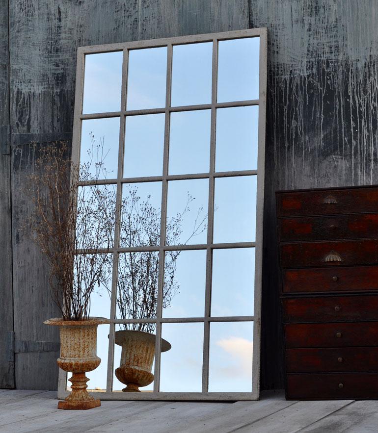 vintage industrial warehouse window mirror