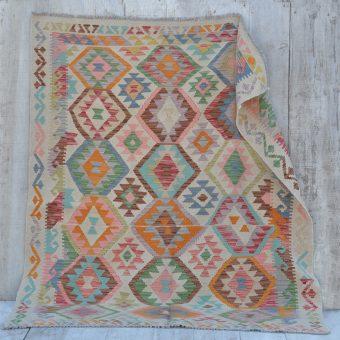 traditional hand woven kilim rug | Amina