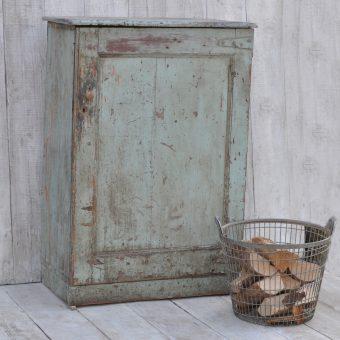 vintage distressed storage cabinet - original turquoise paintwork