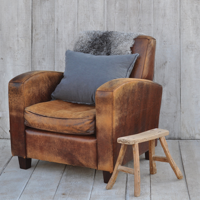 Cool Vintage Leather Club Chair Home Barn Vintage Dailytribune Chair Design For Home Dailytribuneorg