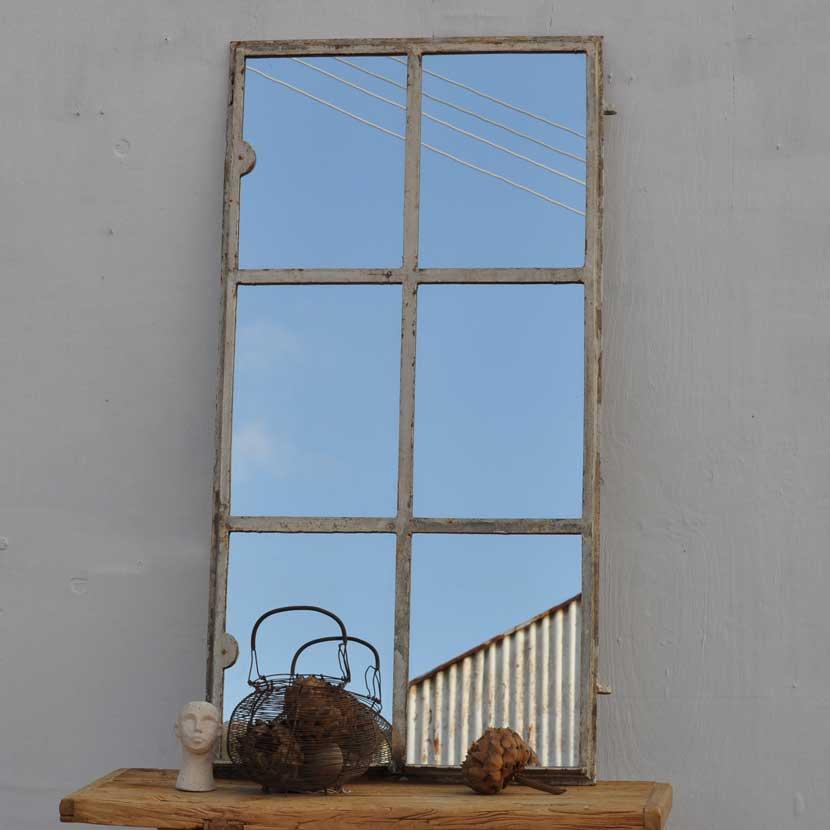 Industrial Warehouse Window Mirror Cast Iron Home Barn