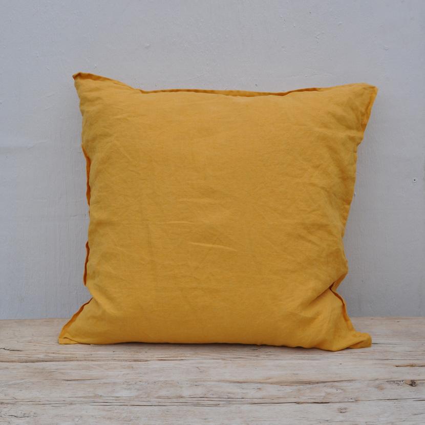 Natural Washed Linen Cushion Home Barn Vintage